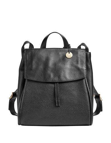 Skagen Ebba Drawstring Backpack-BLACK-One Size