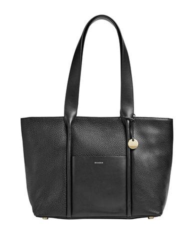 Skagen Lisabet Leather Tote-BLACK-One Size 89610061_BLACK_One Size