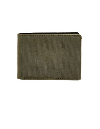 Skagen Slim Bi-Fold Wallet-DARK GREEN-One Size