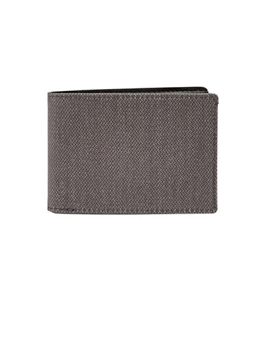 Skagen Twill Slim Bifold Wallet-GREY-One Size
