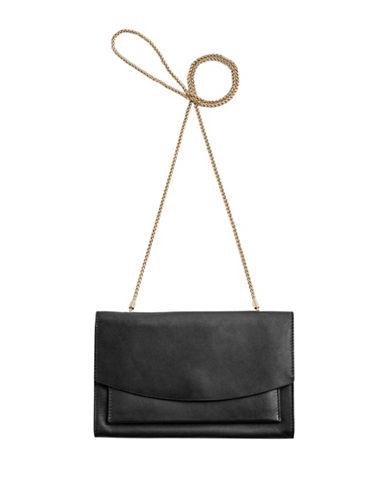 Skagen Eryka Chain Wallet-BLACK-One Size