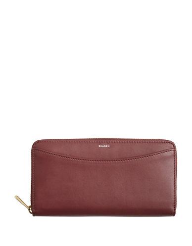 Skagen Continental Zip-Around Wallet-RED-One Size