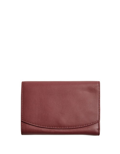 Skagen Compact Flap Wallet-RED-One Size