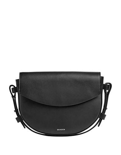 Skagen Lobelle Saddle Clutch-BLACK-One Size