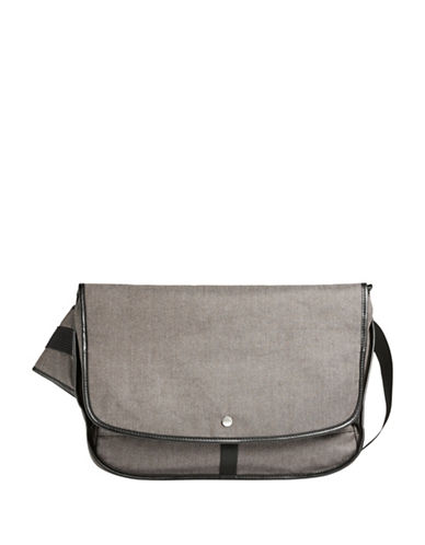 Skagen Mikael Courier Messenger Bag-GREY-One Size