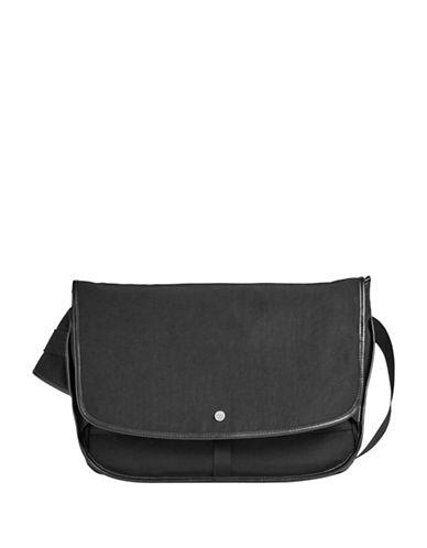 Skagen Mikael Courier Messenger Bag-BLACK-One Size