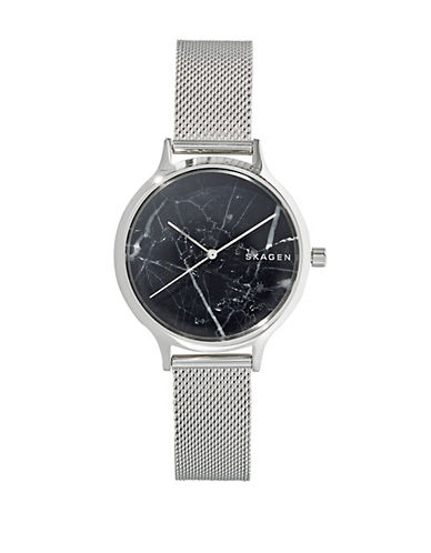 Skagen Anita Stainless Steel Mesh Bracelet Watch-SILVER-One Size