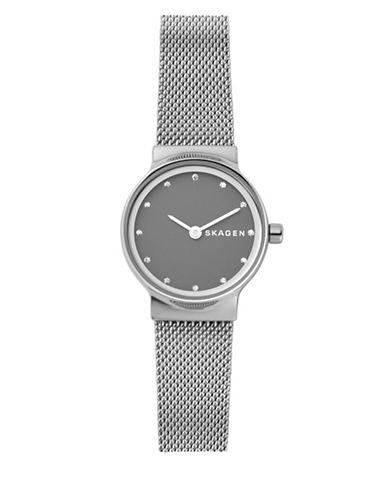 Skagen Freja Stainless Steel Mesh Bracelet Watch-SILVER-One Size