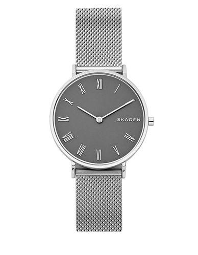 Skagen Slim Hald Stainless Steel Mesh Bracelet Watch-SILVER-One Size
