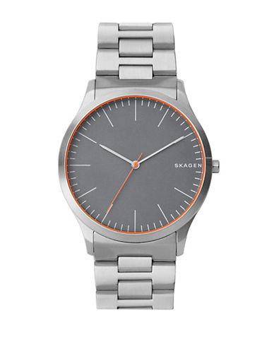 Skagen Jorn Stainless Steel Link Bracelet Watch-SILVER-One Size