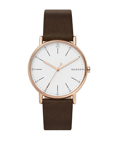 Skagen Limited Edition Chinese New Year Goldtone Stainless Steel Leather Strap Watch-ROSE GOLD-One Size
