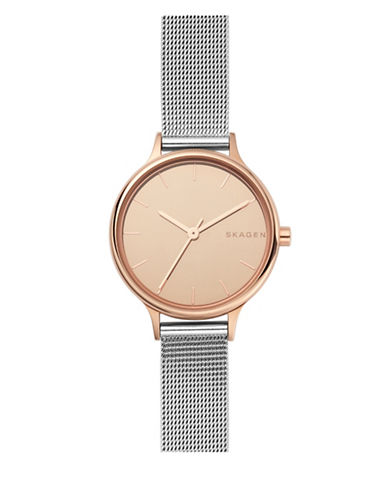 Skagen Anita Rose Goldtone Stainless Steel Mesh Bracelet Watch-ROSE GOLD-One Size