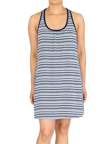 Jones New York Striped Jersey Chemise-BLUE-Medium plus size,  plus size fashion plus size appare