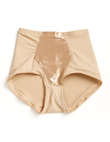 Jones New York Tummy Smoothing Briefs-BEIGE/KHAKI-Medium