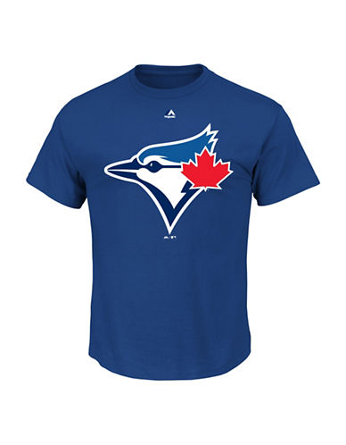 Majestic Toronto Blue Jays Official Logo Tee-BLUE-Small