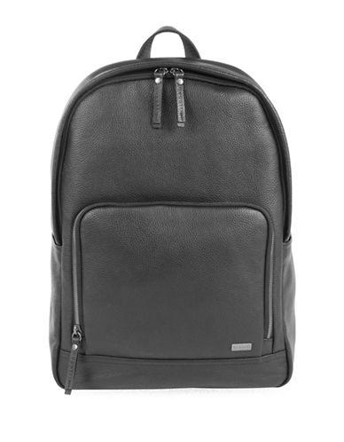 Bugatti Dusk Leather Backpack-BLACK-One Size