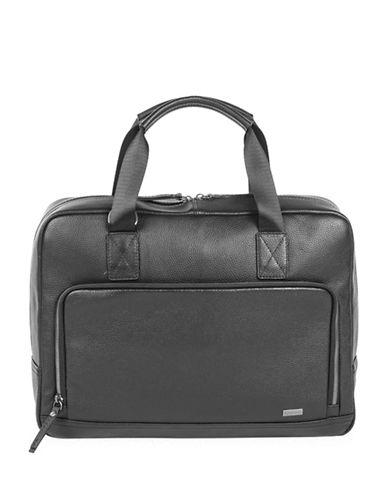 Bugatti Dusk Leather Briefcase-BLACK-One Size