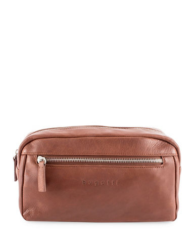 Bugatti Sartoria Leather Toiletry Bag-BROWN-One Size