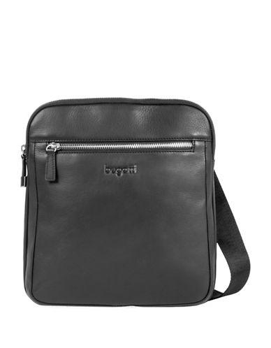 Bugatti Sartoria II Leather Crossbody Bag-BLACK-One Size