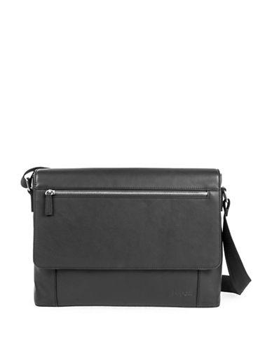 Bugatti Sartoria II Leather Messenger Bag-BLACK-One Size