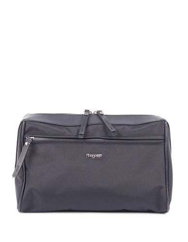 Bugatti Contratempo Nylon Wash Bag-BLACK-One Size