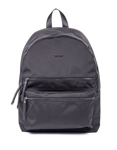 Bugatti Contratempo Medium Nylon Backpack-BLACK-One Size