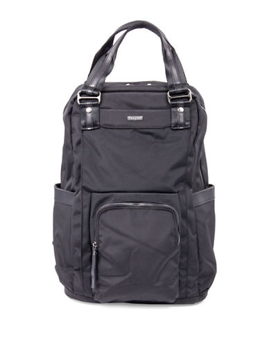 Bugatti Contratempo Large Nylon Backpack-BLACK-One Size