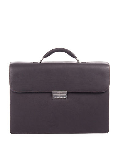 Bugatti Sartoria Medium Leather Briefcase-BROWN-One Size