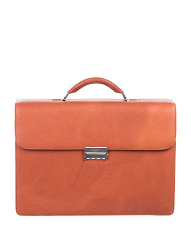 Bugatti Sartoria Leather Briefcase-COGNAC-One Size