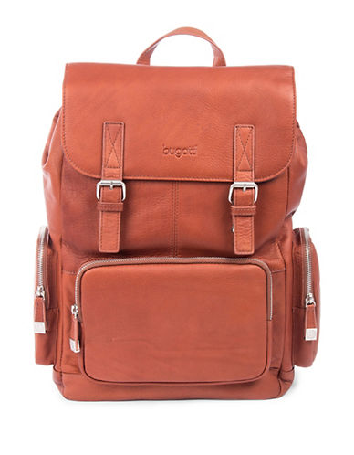 Bugatti Sartoria Leather Backpack-COGNAC-One Size