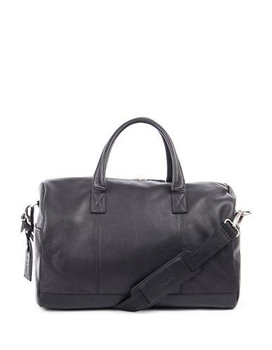 Bugatti Sartoria Leather Sport Bag-BLACK-One Size