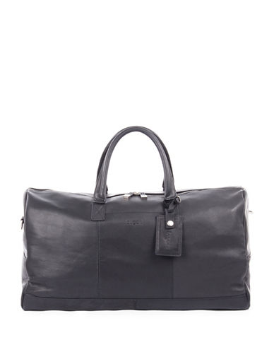Bugatti Sartoria Leather Sport Bag-BLACK-One Size