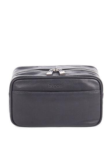 Bugatti Sartoria Leather Washbag-BLACK-One Size