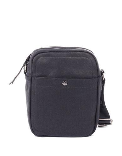 Bugatti Lino Canvas Shoulder Bag-BLACK-One Size