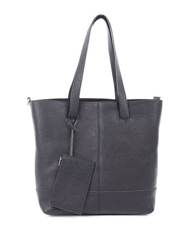 Bugatti Chicago Leather Tote-BLACK-One Size