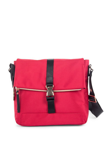 Bugatti Nylon Crossbody Bag-RED-One Size