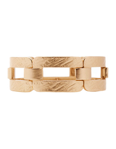 Jones New York Hammered Rectangular Stretch Bracelet-GOLD-One Size