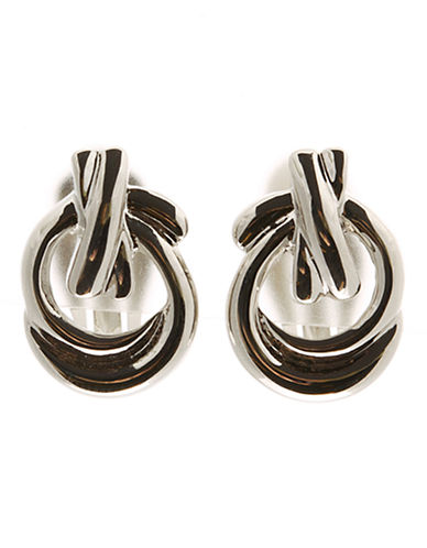 Jones New York Knot Clip Earring-SILVER TONE-One Size