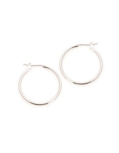 Jones New York Medium Thin Hoop Hinged Earrings-SILVER-One Size