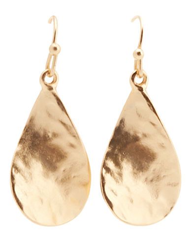 Jones New York Hammered Fishook Earring-GOLD-One Size