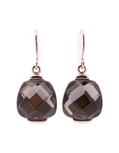Jones New York Square Faceted Stone Earring-BLACK-One Size