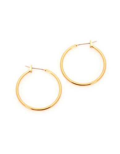 Jones New York Medium Thin Hoop Hinged Earrings-GOLD-One Size