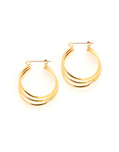 Jones New York 3 Ring Hinged Hoop-GOLD-One Size