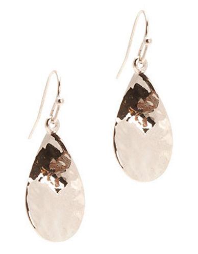 Jones New York Hammered Twist Fishook Earrings-SILVER-One Size