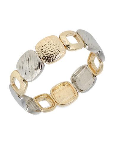 Jones New York Two-Tone Textured Stretch Bracelet-ASSORTED-One Size