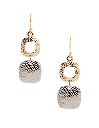 Jones New York Two-Tone Textured Drop Earrings-ASSORTED-One Size