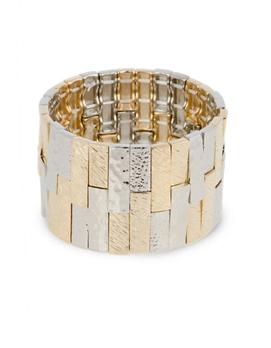 Jones New York Two-Tone Tile Stretch Cuff-TWO TONE-One Size
