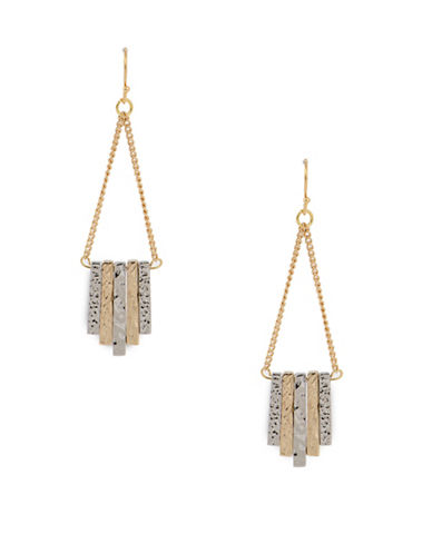 Jones New York Two-Tone Bar Drop Earrings-TWO TONE-One Size