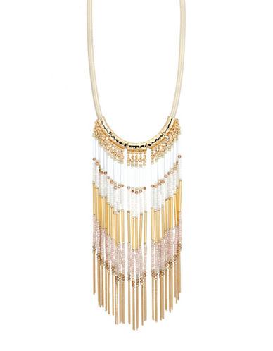 Jones New York Long Tassel Collar Necklace-WHITE-One Size