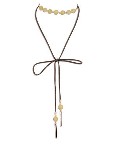 Jones New York Semi-Precious Long Choker Necklace-YELLOW-One Size